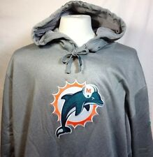 Miami Dolphins Hoodie 3XL Mens Nike On Field Apparel Therma-Fit Pullover NFL Gry