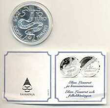 Finland 200 Years Elias Lönnrot Silver 10 Euro 2002 BU with Certificate