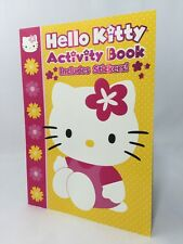Hello Kitty Activity Book With Stickers NEW Yellow Pink White
