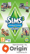 THE SIMS 3 OUTDOOR LIVING STUFF PACK PC AND MAC ORIGIN KEY