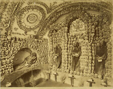 Photo Albuminé Rome Roma Ossario Catacombe Vers 1880