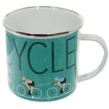 Puckator Enamel Mug Road Cyclist Bike Bicycle Indoor Outdoor Travel Picnic Camp