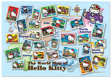"""Jigsaw Puzzles 1000 Pieces """"The World Map of  Hello Kitty"""""""