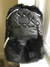 NWT Marc by Marc Jacobs Domo Biker Shearling Quilted Leather Fur Backpack $748