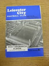 23/03/1968 Leicester City v West Bromwich Albion  (Heavy Rusty Staples, Creased,