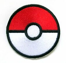 Pokemon Pokeball Iron On Patch- Retro Go Game Gaming Embroidered Applique Crafts
