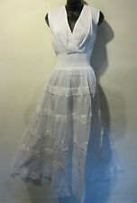 Dress 2X Plus White Ribbon and Lace Empire Waist V neck Peasant Sundress NWT 240