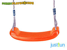 SWING SEAT ORANGE Plastic Set With Rope Accessories Playground Outdoor Kids