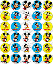30 x Mickey Mouse Party Collection Edible Rice Wafer Paper Cupcake Toppers