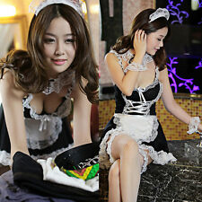 Hot Lingerie Women Lace Costume Maid Cosplay Servant Fancy Dress Uniform