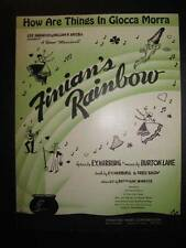 How Are Things In Glocca Morra Sheet Music Vintage 1946 Finians Rainbow Lane (O)