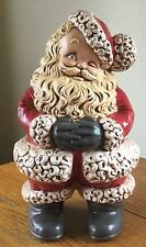 Vintage Hand Painted Ceramic Winking Santa Claus Atlantic Mold 14.5""