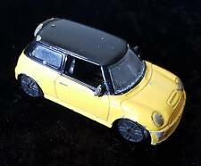 SMALL MINI COOPER S YELLOW TOY CAR - UNBRANDED - made in CHINA - Model No 1208