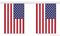 USA 18m BUNTING 60 feet 30 flags flag AMERICAN UNITED STATES OF AMERICA U.S.A.
