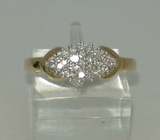 New 9ct Yellow Gold 25pts Diamond Cluster Ring.**Size M**