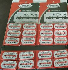 Fast! 100 Israeli Red Personna Platinum Stainless Steel Double Edge Razor Blades