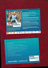 David James in England kit promo card for a football competition