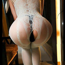 Hot Women Sexy Open Crotch Fishnet Body Stocking Bodysuit Nightwear Lingerie 15W