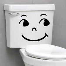 Smiling Face Big Eyes Quote Wall Sticker Home Wall Decals Switch Bathroom Decor
