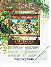 PUBLICITE ADVERTISING 027  1980  Brittany Ferries   Bed & Breakfast