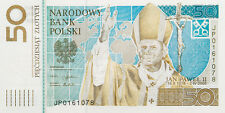 50 ZLOTY - Pope John Paul II / Papiez Jan Pawel II - COMMEMORATIVE BANKNOTE
