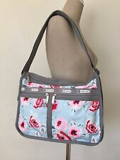 NWT LeSportsac Garden Sky Rose Deluxe Everyday Bag Shoulder Messenger 7507 D796