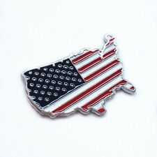 3D auto USA United States map emblem sticker metal badge decal decorate