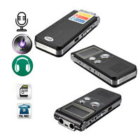 New Rechargeable 8GB 650Hr Digital Audio Voice Recorder Dictaphone MP3 Player