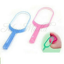 Plastic Tongue Cleaner Scraper Remove Germs Tongue Cleaner For Fresh Breath J