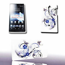 Design No.2 Back Cover Handy Case Hülle für Sony Xperia Ion + Displayschutzfolie