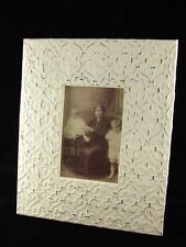 NEW VICTORIAN SHABBY TIN FLEUR CHIC PICTURE PHOTO FRAME