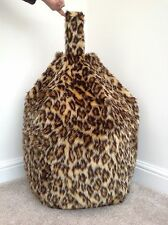 Bean Bag Cover Only Faux Fur New Luxurious Children's Leopard 3 cft Size Cover.