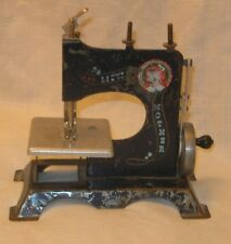 Vintage Antique Little Mother Child's Toy Metal Tin Sewing Machine Early 1900s