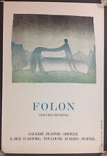 1977 Folon Gravures Recentes Art Litho by Alice Editions, Paris Art Litho