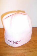 WOMENS PORT AUTHORITY PINK FLEECE HAT WITH GOLDS GYM (NWOT)