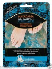 Macadamia Oil Pedicure Moisturisisng Socks Extract Foot Pack Two Booties