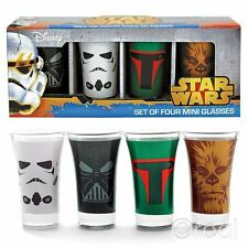 New Star Wars Shot Glasses Set Darth Vader Stormtrooper Boba Fett Official