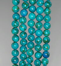 6MM BLUE TURQUOISE GEMSTONE ROUND 6MM LOOSE BEADS 16""