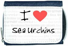 I Love Heart Sea Urchins Denim Wallet