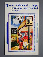 R&L Postcard: Comic, HB 7244, The Bull Pub, Bad Trade