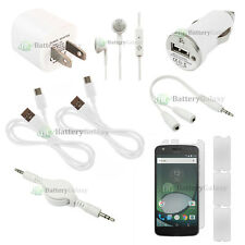 10pc 2 USB Type C Cable+2 Wall/Car Charger+Earbud for Motorola Moto Z Play Droid