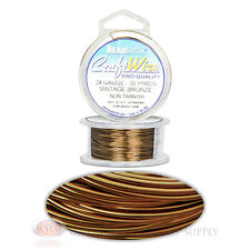 20 Yds Vintage Bronze 24GA Round Craft Wire Jewelry Beading Wrapping Jump Rings
