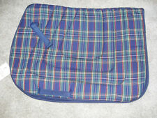 NEW NAVY & HUNTER QUILTED COTTON / POLY ALL PURPOSE SQUARE ENGLISH SADDLE PAD