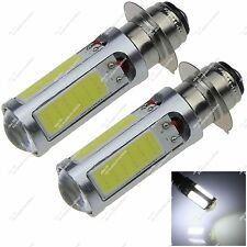 Pair PX15d H6M 5 COB LED Fog Light Head Lamp Motor Bike Indicator Bulb Car ZE401