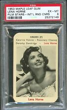 1953 Maple Leaf Gum Film Stars Card LENA HORNE Duchess of Idaho PSA 6 Ex-Mt