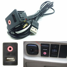 Car Aux & USB Integration Switch Adapter USB Charging Socket Wired 30*17MM Mount