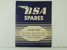 1957 BSA Bantam Motorcycle Engine Spare Parts List Manual And Literature L1601