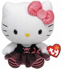 Hello Kitty Punk Rock Plush Ty Beanie Baby Pink Black Tulle Skirt Sparkle Bow