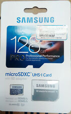 Genuine Samsung 128GB PRO MicroSDXC UHS-I Memory Card with SD Adapter 90MB/s