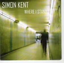 (EA771) Simon Kent, Where I Stand - 2013 DJ CD